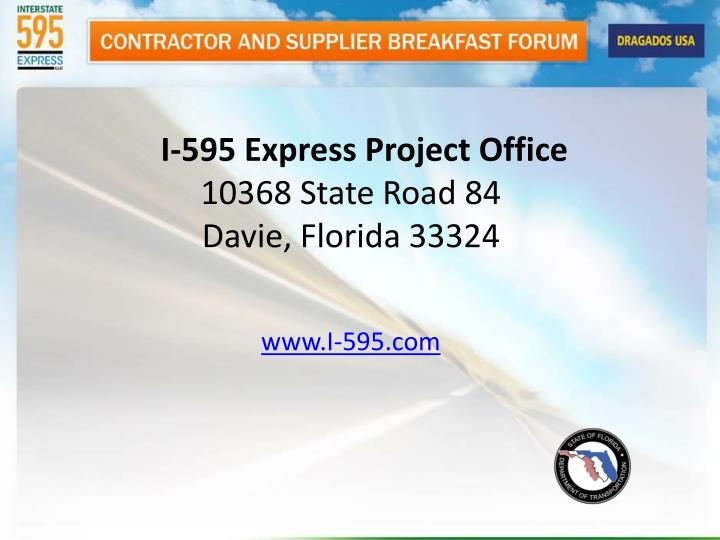 I-595 Express Project Office