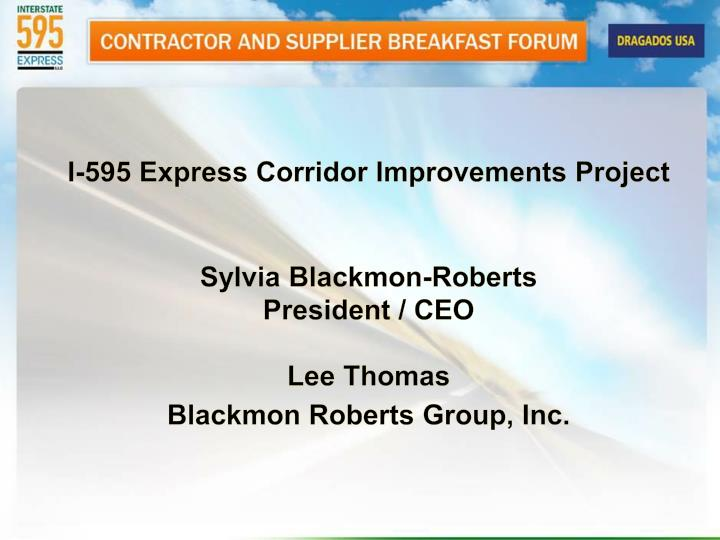 I-595 Express Corridor Improvements Project