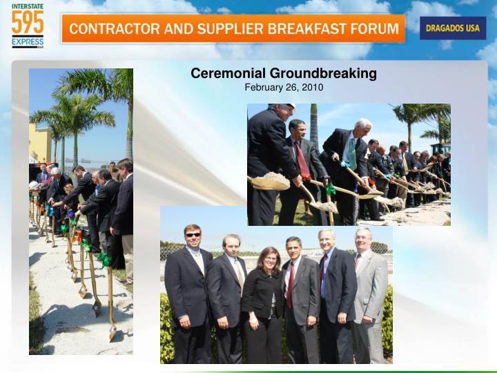 Ceremonial Groundbreaking