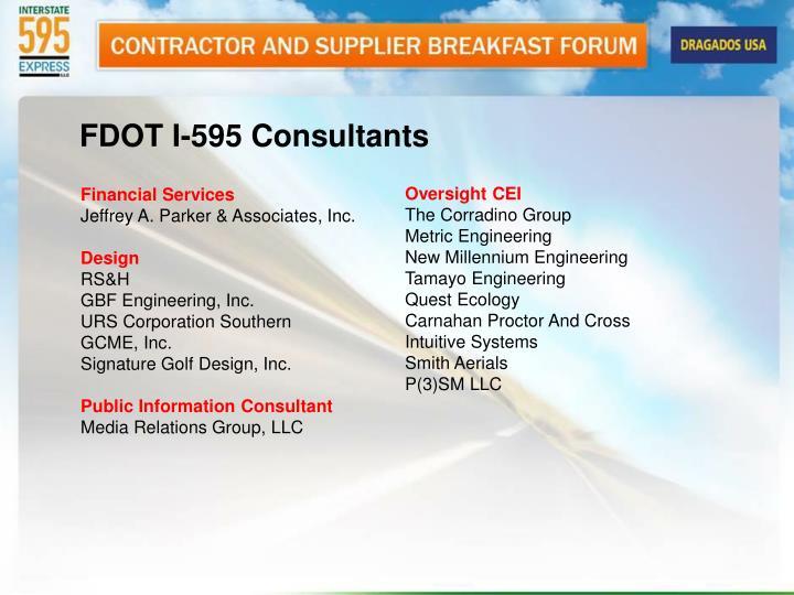 FDOT I-595 Consultants