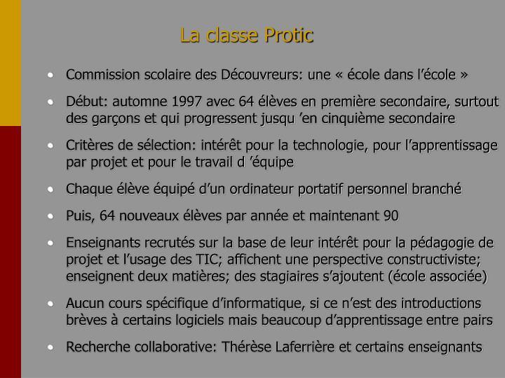 La classe Protic