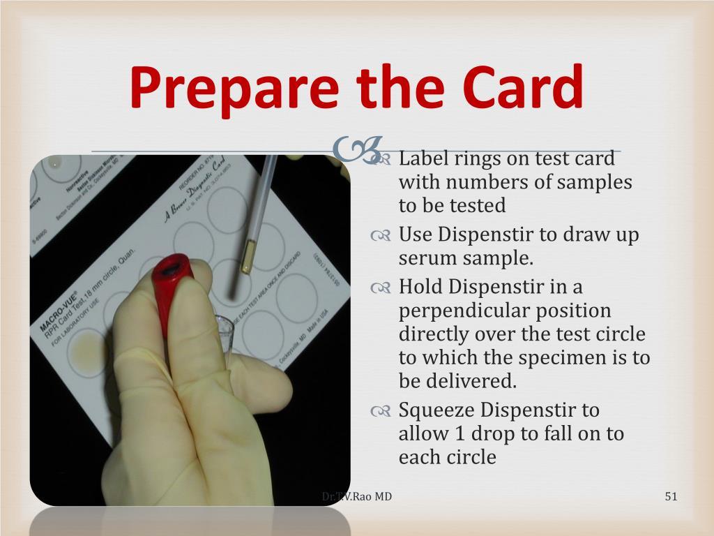 Prepare the Card