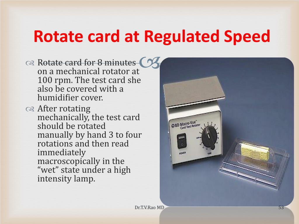 Rotate card at Regulated Speed