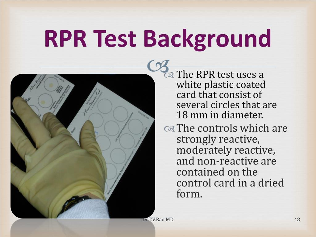 RPR Test Background