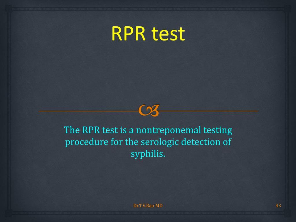 RPR test