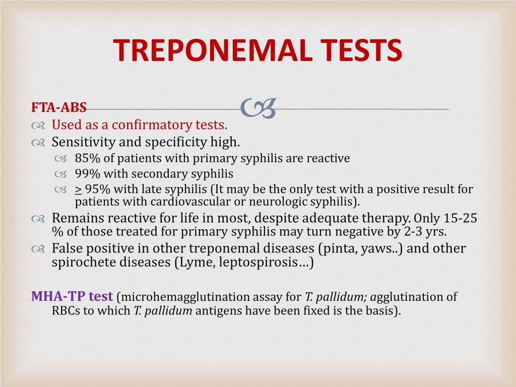 TREPONEMAL TESTS