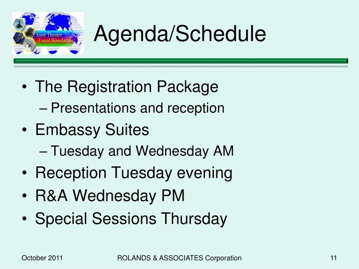 Agenda/Schedule