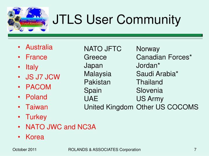 JTLS User Community