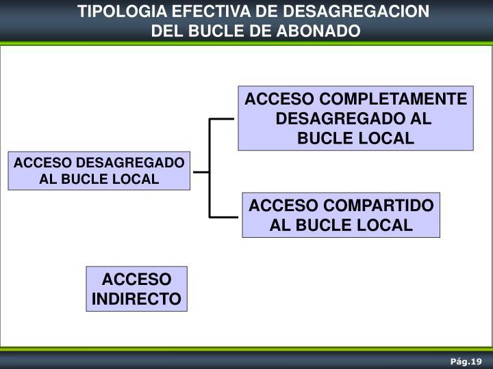 TIPOLOGIA EFECTIVA DE DESAGREGACION