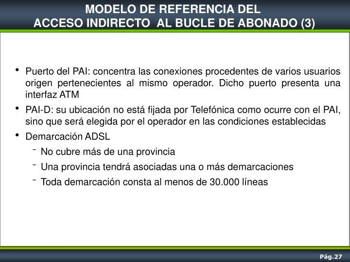 MODELO DE REFERENCIA DEL