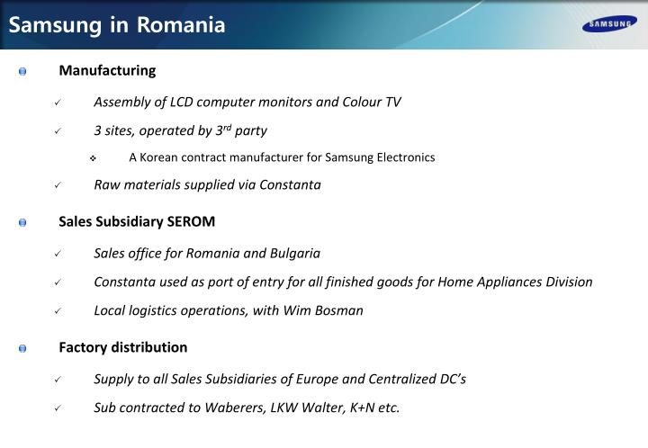 Samsung in Romania