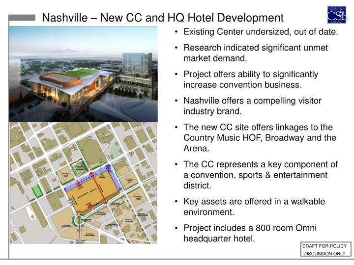 Nashville – New CC and HQ Hotel Development