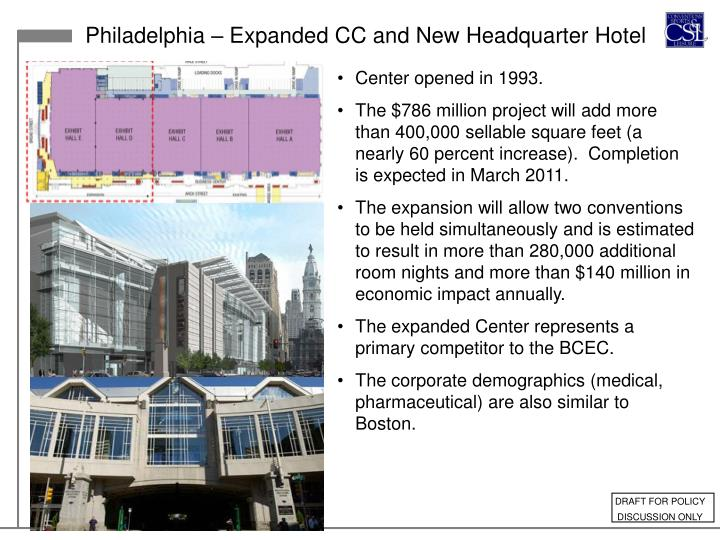 Philadelphia – Expanded CC and New Headquarter Hotel