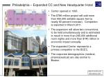 philadelphia expanded cc and new headquarter hotel
