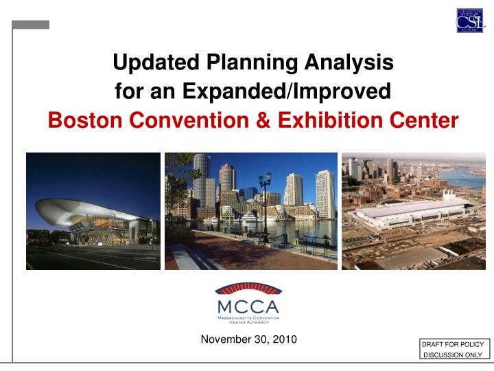 Updated Planning Analysis