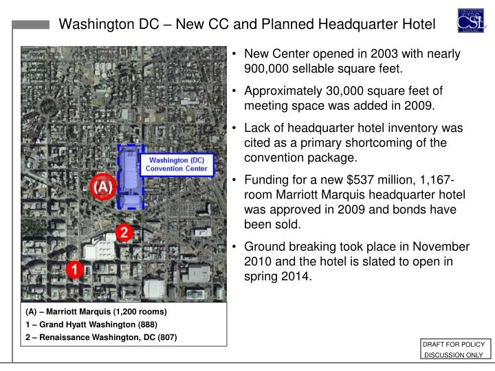 Washington DC – New CC and Planned Headquarter Hotel