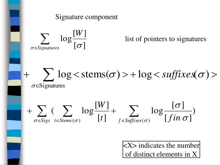 Signature component