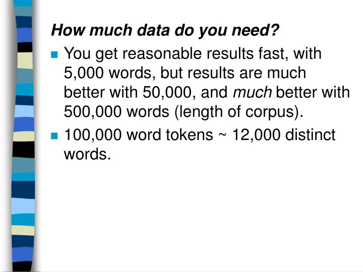 How much data do you need?