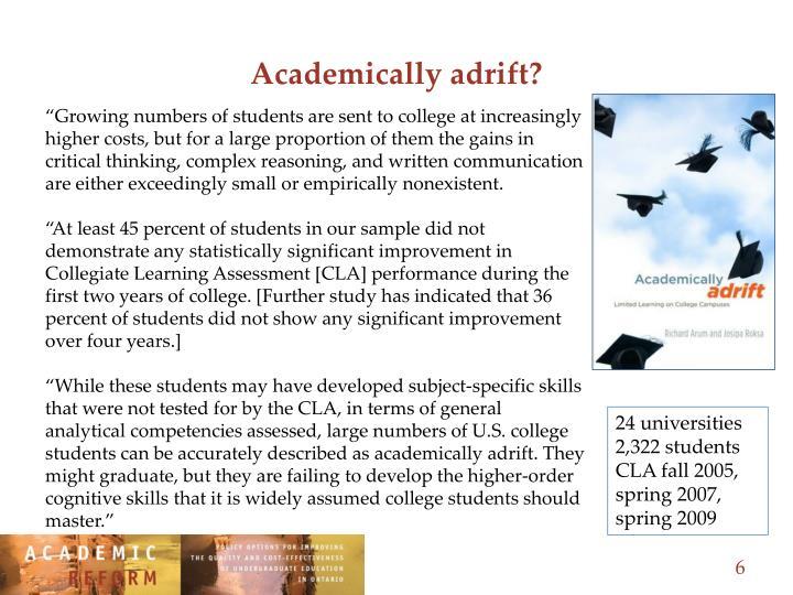 Academically adrift?
