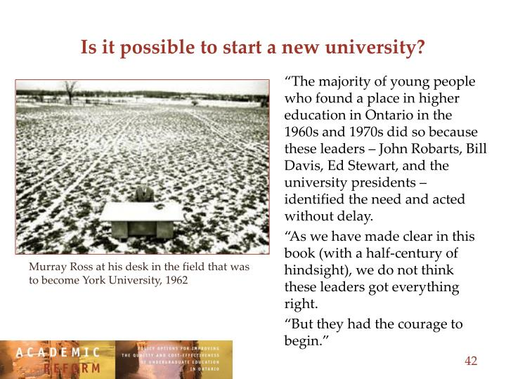 Is it possible to start a new university?