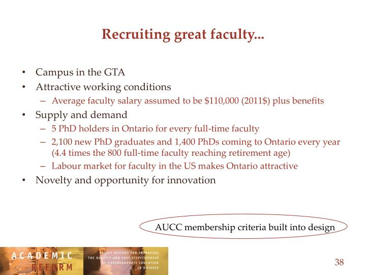 Recruiting great faculty...