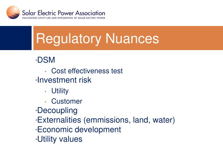 Regulatory Nuances