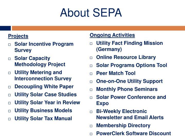 About SEPA