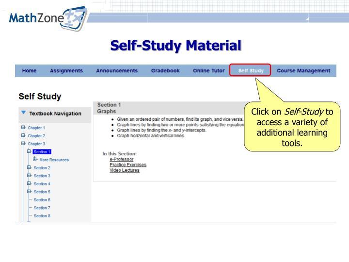Self-Study Material