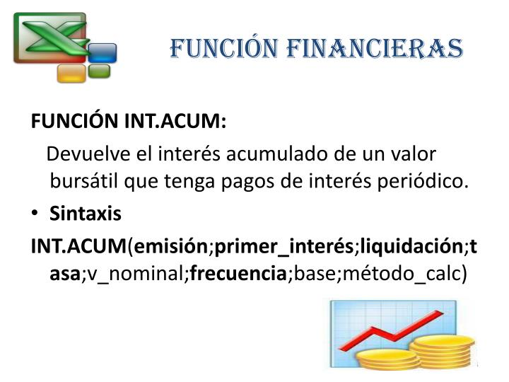 FUNCIÓN FINANCIERAS