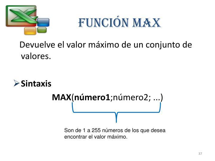 Función MAX