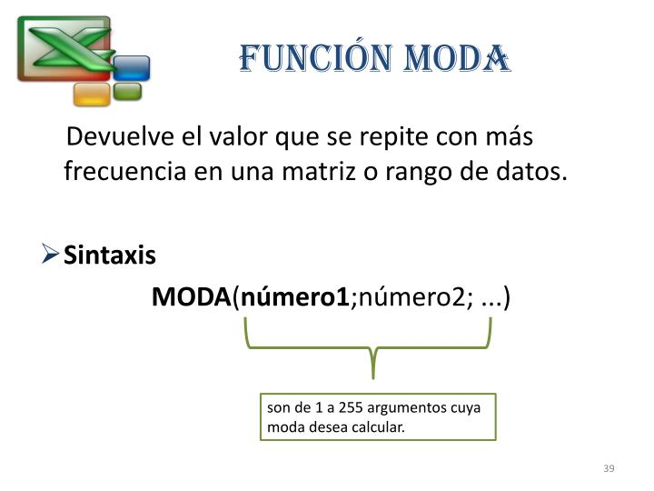 FUNCIÓN MODA