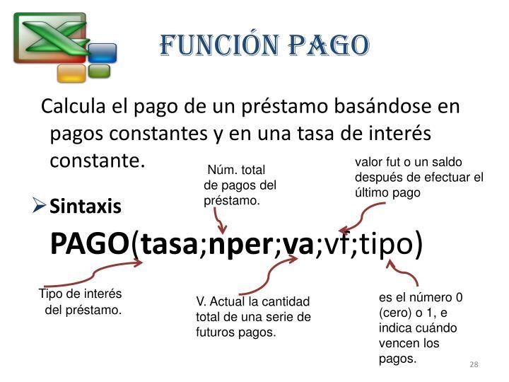 Función PAGO