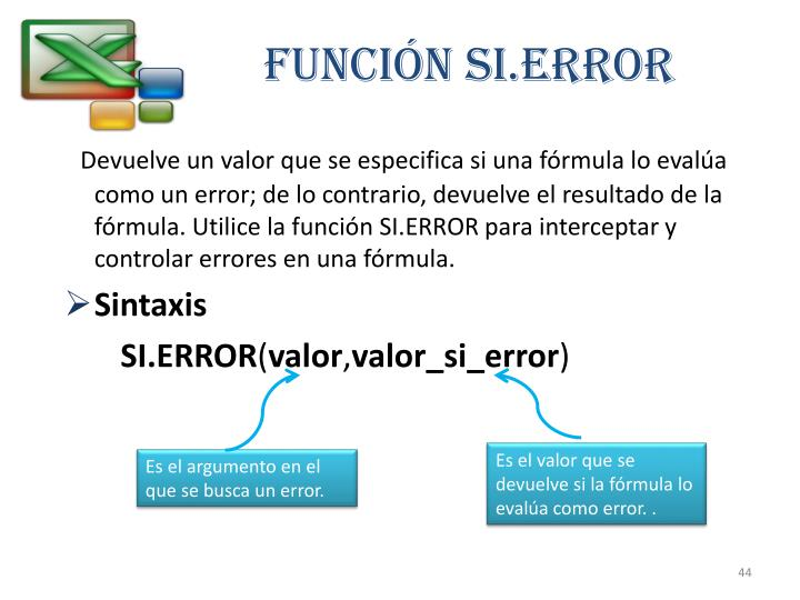 Función SI.ERROR