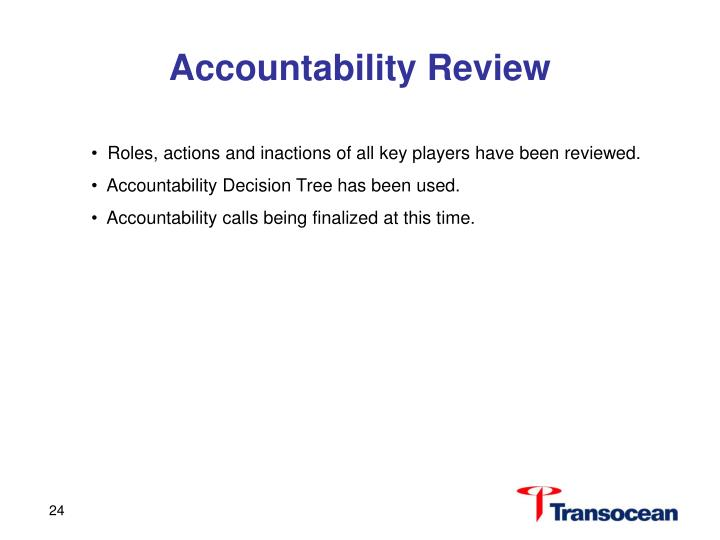 Accountability Review