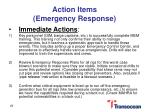 action items emergency response