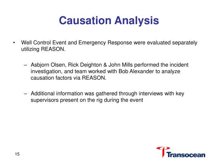 Causation Analysis