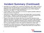 incident summary continued1