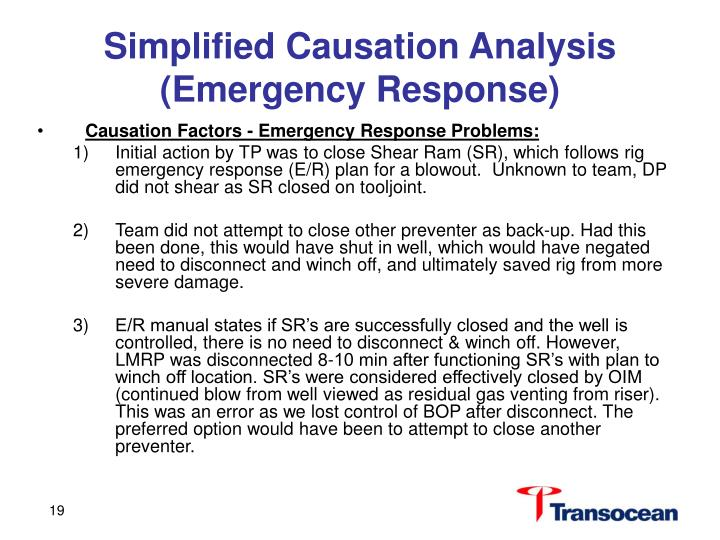 Simplified Causation Analysis