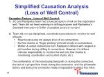 simplified causation analysis loss of well control