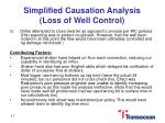 simplified causation analysis loss of well control1