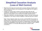 simplified causation analysis loss of well control2