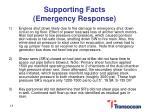 supporting facts emergency response