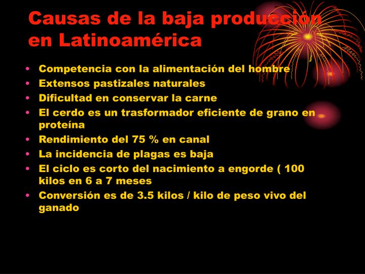 Causas de la baja producción en Latinoamérica
