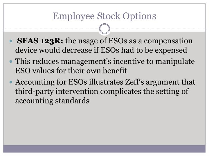 How do employee stock options affect stock price