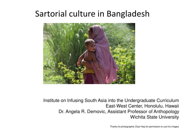 Sartorial culture in bangladesh