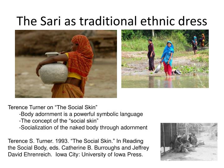 The Sari as traditional ethnic dress