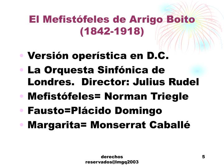 El Mefistófeles de Arrigo Boito