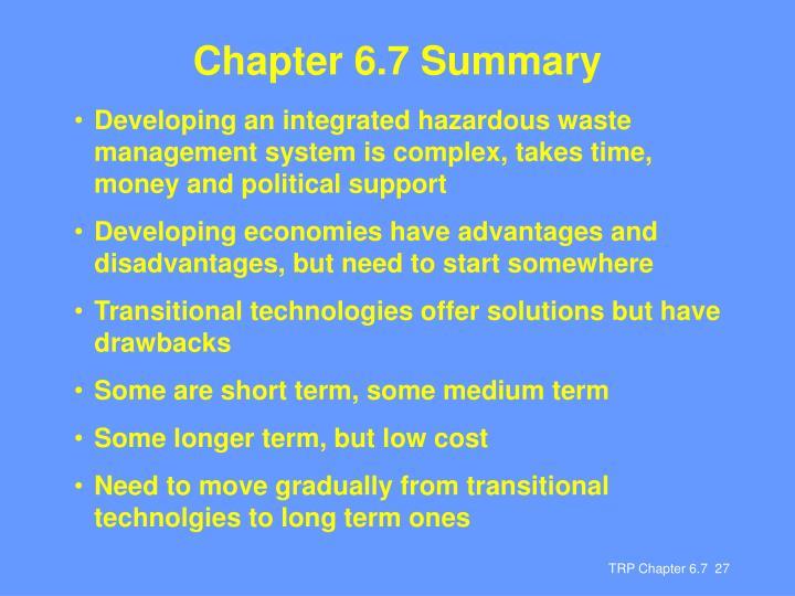 Chapter 6.7 Summary