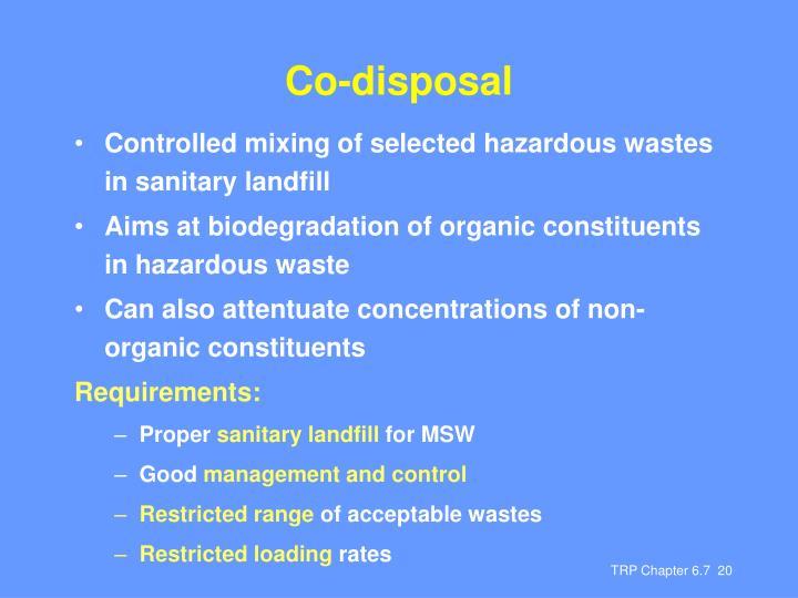 Co-disposal