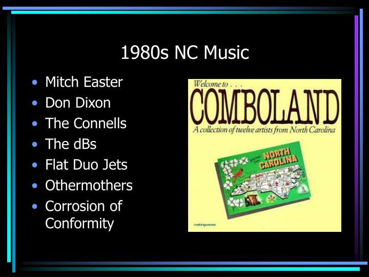 1980s NC Music